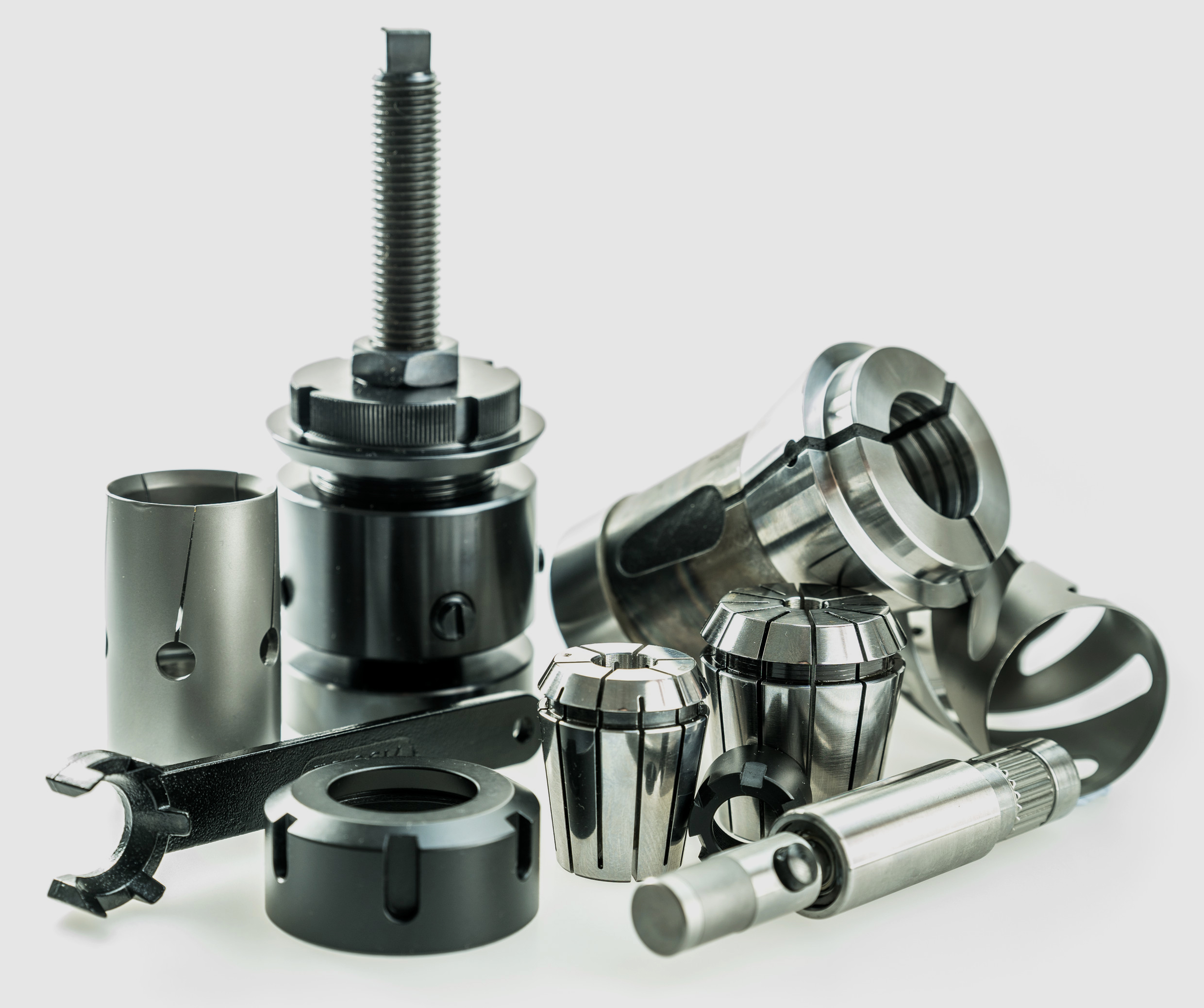 Workpiece and tool clampings itmes
