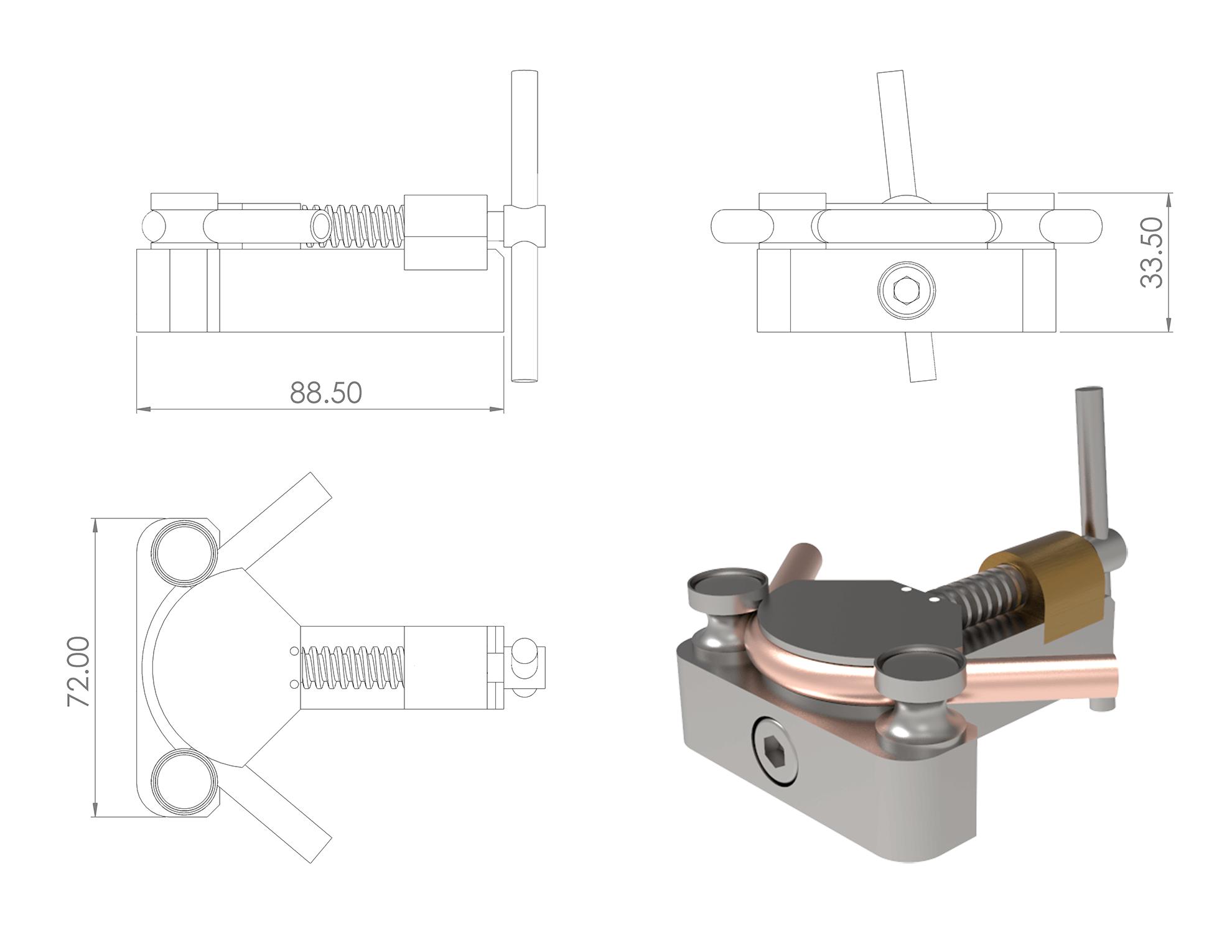 Coolant Tube Bending Tool